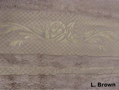 Полотенце ТМ Arya бамбук Viktorya Gul светло-коричневое 70Х140