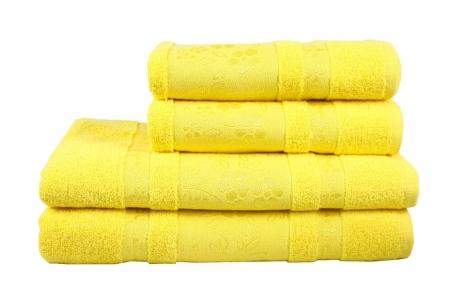 Полотенце махровое ТМ Fiesta Pacific желтое