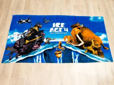 Полотенце велюровое пляжное Турция Ice-Age-4 75х150 см