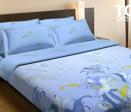 Постельное бельё ТМ ТOP Dreams Цветок орхидеи двуспальный размер