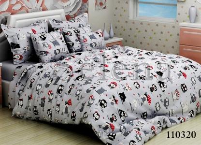 Подростковое постельное белье ТМ Selena бязь 110320 Совята 2