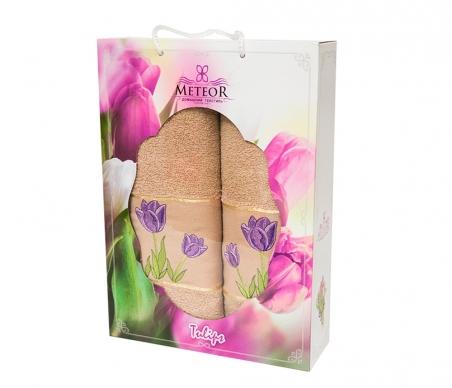 Набор хлопковых полотенец Turkiz Meteor Tulip капучино