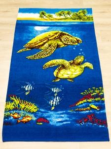 Полотенце велюровое пляжное Турция Turtles