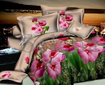 Постельное белье ТМ Selena ранфорс Орхидея лесная