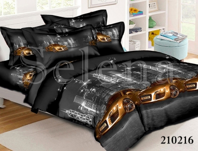 Подростковое постельное белье ТМ Selena ранфорс Ночные Гонки 210216