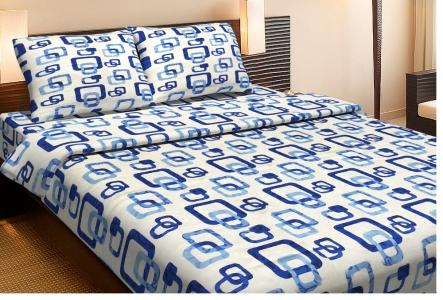 Постельное бельё ранфорс ТМ Lotus Delta синий двуспальный размер