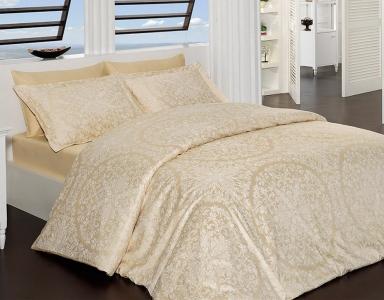 Постельное белье ТМ First Choice сатин-люкс Vanessa Gold евро-размер