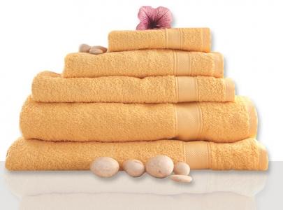 Полотенце махровое ТМ Novita гладкокрашенное sun yellow