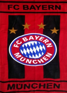 Полотенце велюровое пляжное Турция FC Bayern 75х150