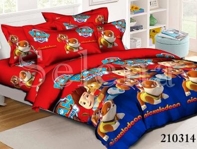 Подростковое постельное белье ТМ Selena ранфорс (210314) Щенячий Патруль 3