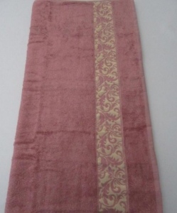 Полотенце ТМ Arya бамбук Aleda сухая роза 70х140