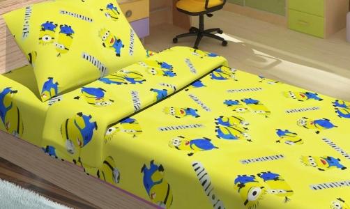 Подростковое постельное бельё ТМ Lotus ранфорс Minions happy желтый