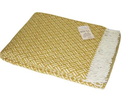 Плед шерстяной ТМ Vladi Шарм желтый 140х200 см