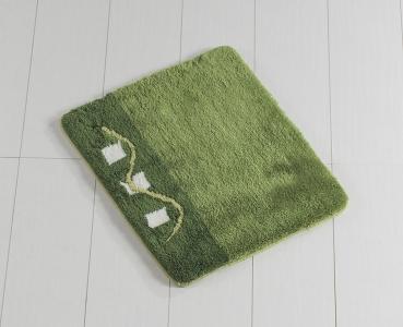 Коврик прорезиненный для ванной ТМ Chilai Home Joan Green 50х60