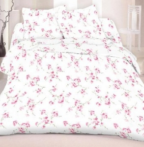 Постельное белье ТМ Nostra бязь-люкс 20-0085 Pink евро-размер