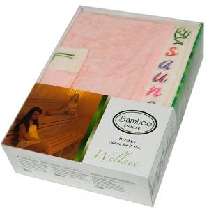 Набор ТМ Gursan для сауны женский 2-х предметный сомон