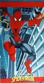 Полотенце велюровое пляжное Турция Spider-Man №1 75х150 см