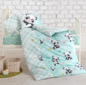 Детский постельный комплект ТМ Cotton Box ранфорс Panda Mint