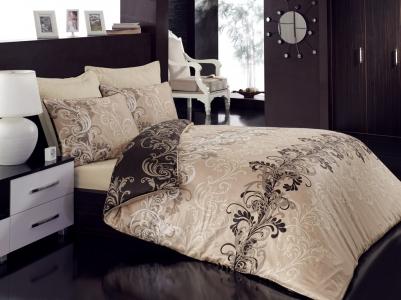 Постельное бельё ТМ Cotton Box сатин Cemile Bej евро-размер