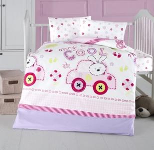 Детский постельный комплект ТМ Arya Coll Baby розовый