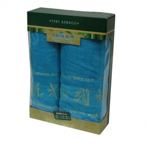 Набор полотенец из 2 штук ТМ Gursan Bamboo turquoise