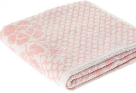 Полотенце ТМ Arya бамбук-жаккард Sibel розовое