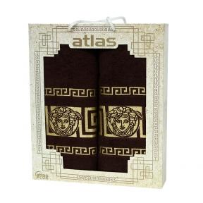 Набор хлопковых полотенец Atlas Medusa коричневый 2 шт