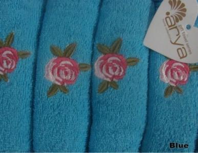 Набор полотенец кухонных 4шт ТМ Arya Riva голубой 40X60