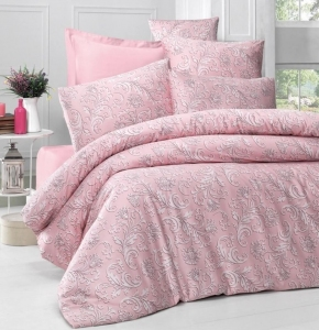 Постельное белье ТМ Victoria Sateen Verano розовое евро-размер
