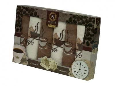 Набор полотенец кухонных ТМ Nilteks Coffee Time 3 6шт 30х50см