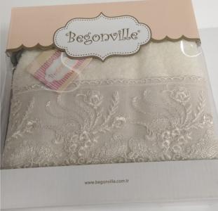 Полотенце махровое ТМ Begonville Eva 4 krem 50х90