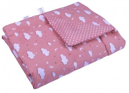 Одеяло детское хлопковое стеганое ТМ Руно Тучка розовое 140х105