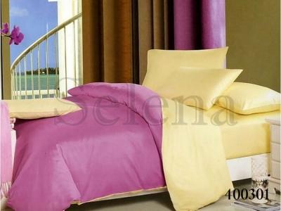 Постельное белье ТМ Selena поплин Ванильно-фиолетовый 400301