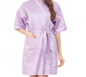 Халат из сатина ТМ Nostra женский короткий 00-0033 Soft Lilac