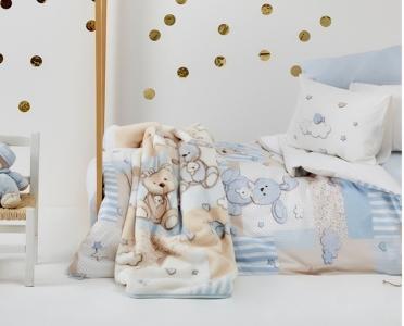 Постельное бельё ТМ Karaca Home детский Honey Bunny Mavi