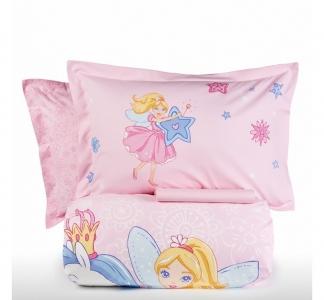 Подростковое постельное бельё ТМ Karaca Home Periwinkle Pembe
