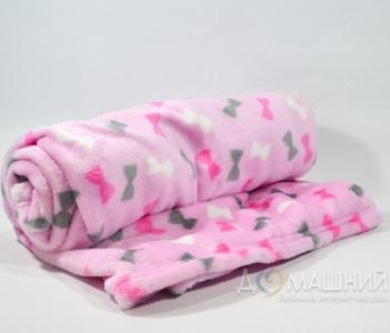 Плед флисовый ТМ Ярослав детский 100х140 см розовый