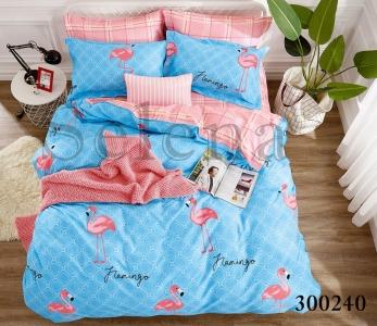 Постельное белье ТМ Selena сатин Розовый Фламинго 300240