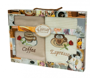 Набор полотенец кухонных 2шт ТМ Gursan кофе 4 40х60