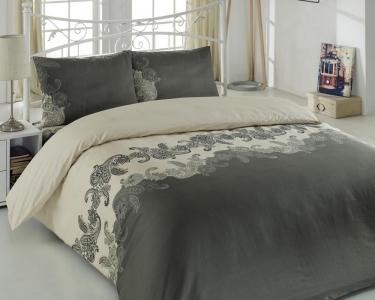 Постельное бельё ТМ Eponj Home ранфорс Mix Scarlet евро-размер