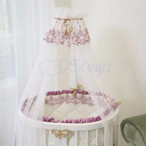 Детский набор из 7 предметов ТМ Маленькая Соня Ricci розовый