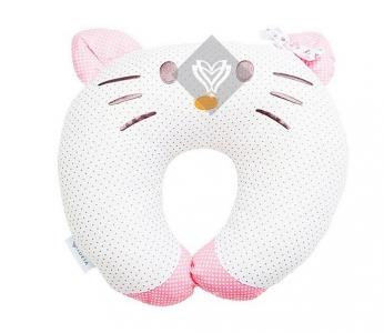 Подушка для путешествий ТМ Идея Рогалик Zoo Kitty 44х38