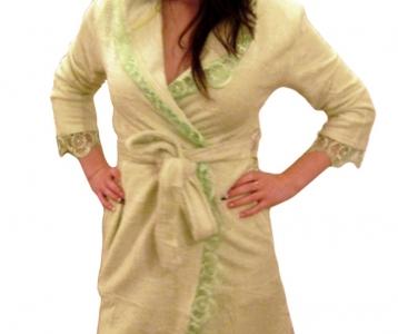 Халат махровый ТМ Nusa салатовый женский (NS 031)