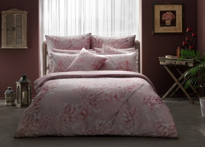 Постельное бельё сатин-digital ТМ TАС Euphoria Pink евро-размер