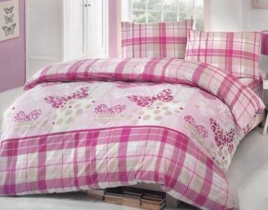 Постельное белье ТМ TAC Brielle ранфорс 701 V2 Pink евро-размер