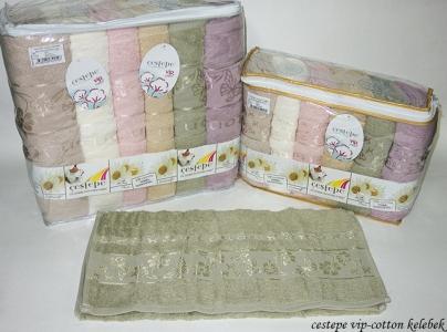 Набор полотенец из 6 штук ТМ Cestepe VIP Cotton Kelebek
