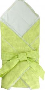Конверт-одеяло для новорожденных ТМ Руно 957 с бантом салатовый