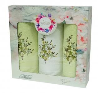 Набор махровых полотенец из 3 штук ТМ Gursan green