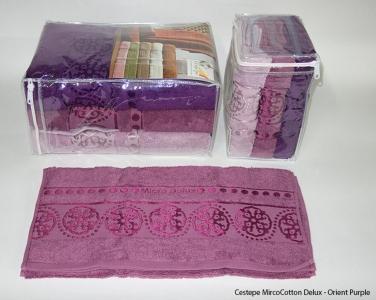 Набор полотенец из 6 штук ТМ Cestepe MicroCotton Delux Orient purple