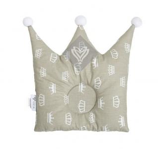 Подушка детская ТМ Идея Корона бежевая 32х32